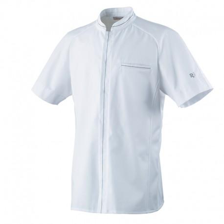 Veste de cuisine ALDRIN Robur, veste blanche manche courte, qualité exceptionnelle