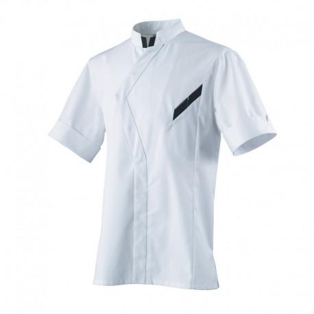 Veste de cuisine VERSANT Robur, veste originale, bouton pression cachés en asymétrique