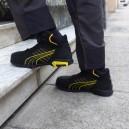Chaussures de sécurité montantes Puma Amsterdam mid S3 SRC, manutention, chantier ou magasiniers