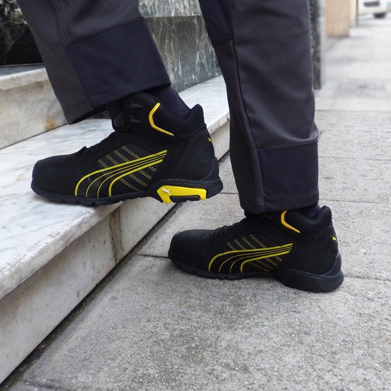 5cd49993aefd8c Chaussures de sécurité montantes Puma Amsterdam mid S3 SRC, manutention,  chantier ou magasiniers