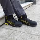 Chaussures de sécurité montantes Puma Amsterdam mid S3 SRC, travail en extérieur et en intérieur pour toutes les saisons