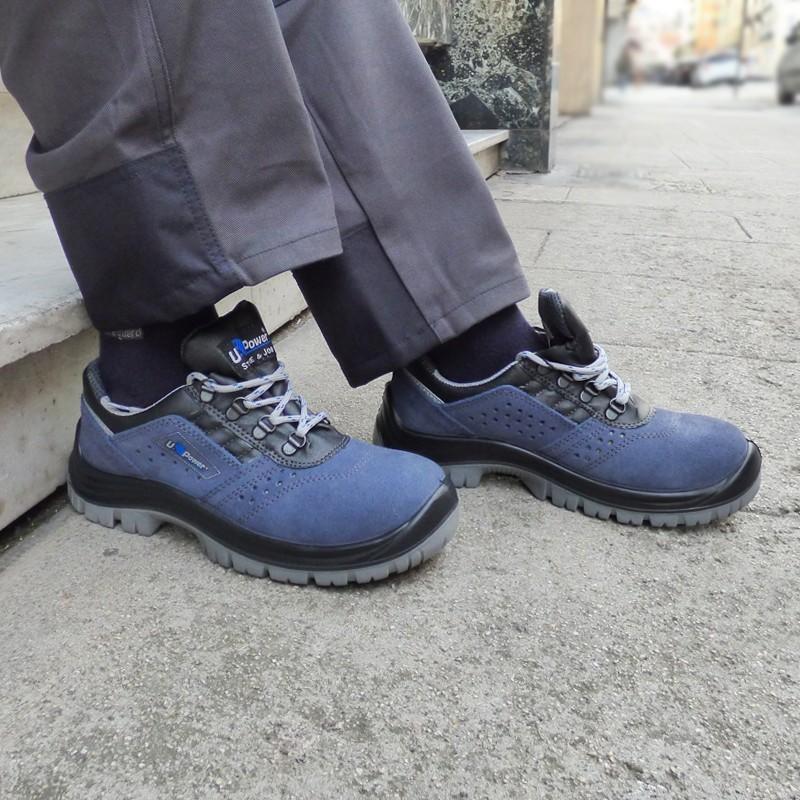 Chaussures de sécurité bleues Boss S1P SRC. Qualité prix imbattable pour tous métiers difficiles.