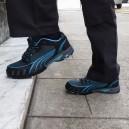 Baskets de sécurité femme Puma Fuse motion bleu S1, look moderne, look chaussures de ville.