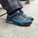 Baskets de sécurité femme Puma Fuse motion bleu S1 confort par tous les temps