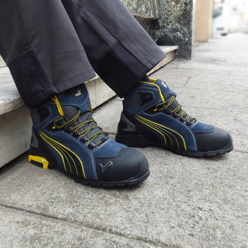 Chaussures de sécurité montantes Puma Rio S1P, pour métiers manuels en extérieur ou intérieur