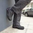 Chaussures de sécurité femme noir et rose S3. Elegantes et raffinées avec coque de sécurité.