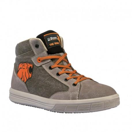 Chaussures de Sécurité Basket Montante Beige S1P SRC, Upower technologie, confort et maintien parfait