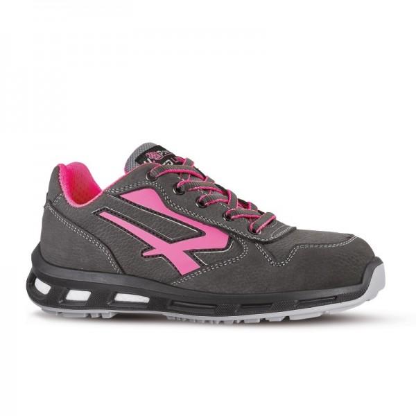 Chaussures de sécurité CANDY S3 CI SRC. Upower technologie. Coque de protection. Basket pour femmes rose et gris.
