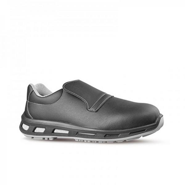 Chaussures de sécurité NOIR S2 SRC. Noire et légère. Parfait pour la cuisine. Semelle protectrice antidérapage.