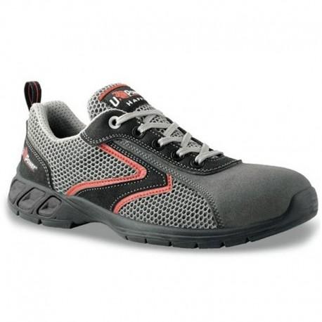 Chaussures de sécurité grise et rouge Shaker S1P SRC