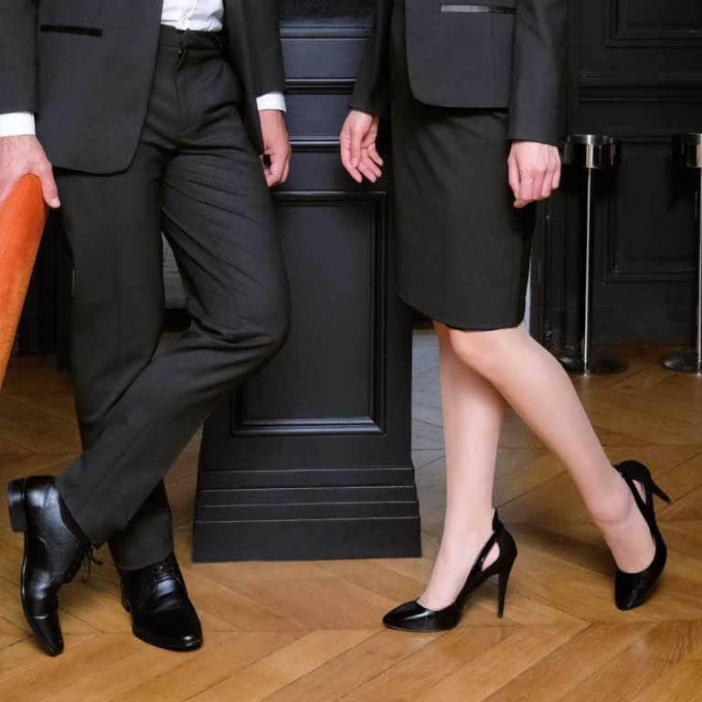chaussure de service femme et chaussure de service homme