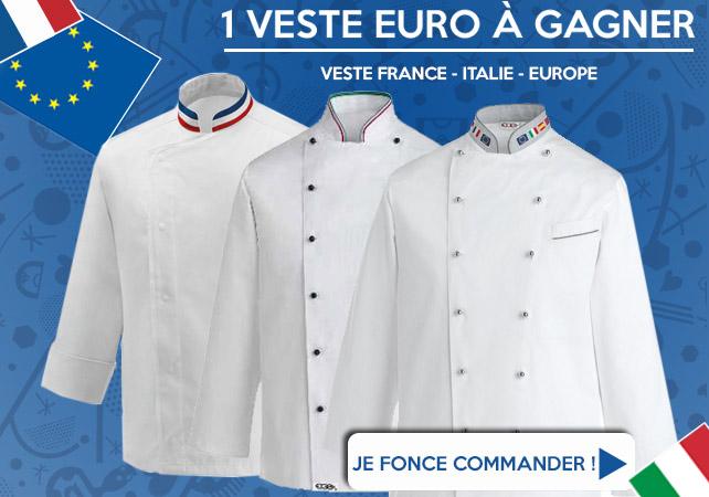 1 veste euro gagner tous les jours for Veste cuisine mof