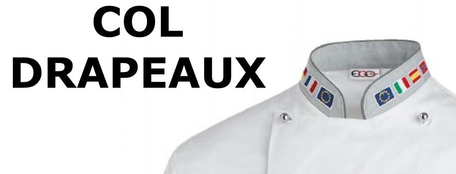 Veste de cuisine drapeaux francais allemand italie for Veste de cuisine mof