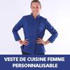 veste de cuisine femme personnalisable