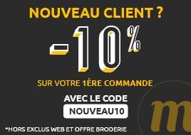 Nouveau client -10% sur 1ère commande