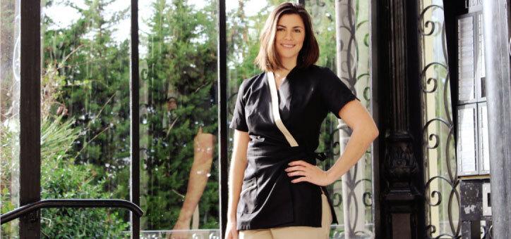 vêtements professionnels destinés aux instituts de beauté