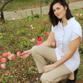 vêtements professionnels aux instituts de beauté