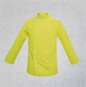 veste de cuisine enfant vert anis boutons blancs manelli