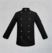 veste de cuisine enfant noir boutons blancs manelli