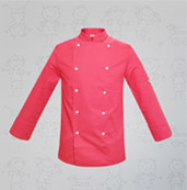 veste de cuisine enfant-rose boutons blancs manelli
