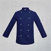 veste de cuisine enfant bleu marine boutons blancs manelli
