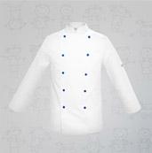 veste de cuisine enfant bleue